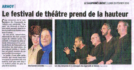 article presse Carmen Armoy